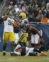 Jay Cutler, Green Bay Packers defensive tackle Mike Neal (96)