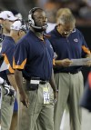 Lovie Smith in preseason game against Cleveland