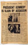 JFK: The Hammond Times Nov. 22, 1963 edition