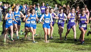 Girls runners from Highland and Hobart trek