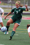 Valparaiso's Ashley Thomas had a hat trick Saturday in the Class 2A Portage Sectional championship. The Vikings meet Lake Central in Wednesday's semifinals of the Valparaiso Regional.