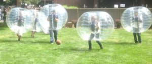 PUC introduces bubble soccer at student convocation