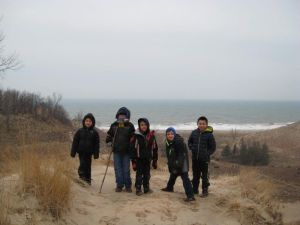 Scouts hike Indiana Dunes State Park