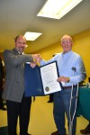 Hobart man receives governor's award for work on senior center