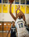 Crete Monee's Sarah Humphrey drives to the baskest against Hillcrest on Saturday.