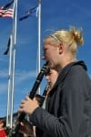 Concert band plays for VA Clinic dedication