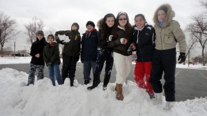 Our Lady of Grace students have some Winter fun