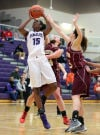 Merrillville's Victoria Gaines shoots against Chesterton on Friday night in the semifinals of the Class 4A Hobart Sectional.