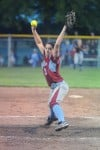 Hanover Central starting pitcher Ashley Yoways throws