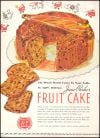 A&P Grocery 1939 Advertisement for Jane Parker Fruitcake Line