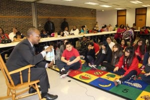 Mayor Copeland makes time for 5th graders