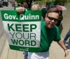 Union pickets over Quinn cancelling raises