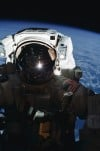 MS Ross takes a self-portrait during the second EVA of STS-110