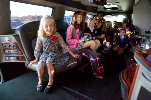 Gallery: Limo ride to school