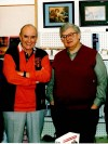 The Rev. Andrew Greeley and film criticRoger Ebert in 1993 in New Buffalo, Mich.