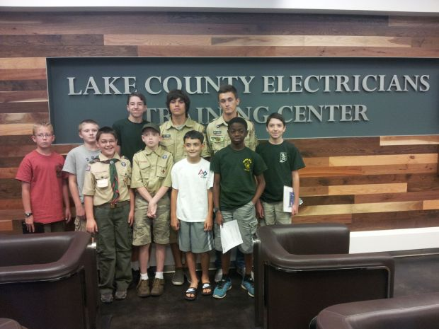 Boy Scouts earn Electricity Merit badge