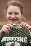 Whiting tennis star Grace Huss