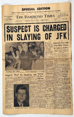 JFK: The Hammond Times Nov. 23, 1963 edition