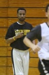 Justin Domingo, Seton Academy boys basketball coach at practice