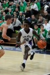 Merrillville's Brian Jenkins drives against Valparaiso during Saturday night's Class 4A Michigan City Sectional championship.