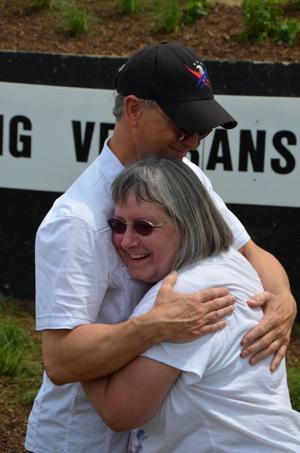 An appreciative hug