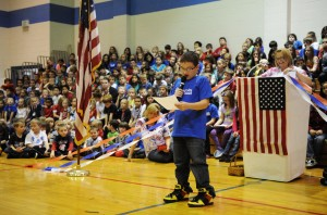 Lincoln Elementary School students recognize veterans in Cedar Lake