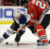 Blues edge Blackhawks in shootout