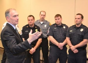Congressman Visclosky salutes Franciscan St. Anthony paramedics who assisted in Superstorm Sandy efforts
