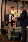 Foundation honoree receives Sagamore of Wabash award