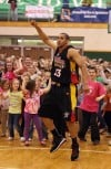 Valparaiso All Stars take on the Harlem Wizards basketball team