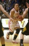 Crown Point's  Lisa Kurth drives