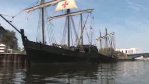 Nina, Pinta sail into Michigan City harbor