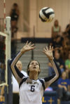 Noll's Brittany Anderson takes over as No. 1 setter for volleyball team
