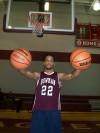 Justin King, palming basketballs