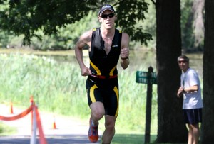 Portage graduate becomes first 4-time men's Valpo Triathlon winner by breaking own course record
