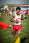 T. F. South's Tremayne Bry crosses the finish line at the Jimmy Daniels Invitational on Saturday.