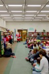 Santa surprises story time participants at Crown Point Library
