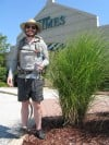 Actor Burt Culver Departing The Times Munster, Ind. Offices for an 8-Day Trek