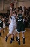 Bishop Noll's Tori Keilman shoots over Whiting's Abby Bondi