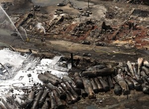 Deadly derailment won't stop oil on trains