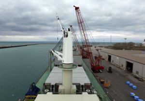 First international ship of the season arrives