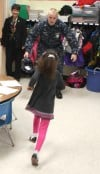Sailor on leave makes surprise visit to daughter's classroom