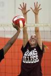 Jenna Pasko at volleyball practice