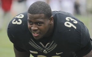 East Chicago's Kawann Short does 'show and tell' at Pro Day