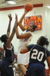 Merrillville senior forward Amber Sturdivant shoots