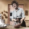 Julia Child Whipping Up Chocolate Mousse as Photographed by Her Husband Paul Child