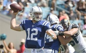 Luck throws 4 TDs as Colts rout Jaguars