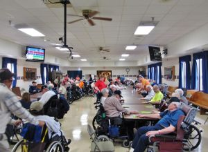 Scouts, American Legion help out with Bingo party