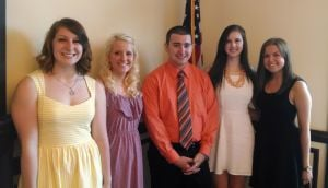 Rotary awards five scholarships
