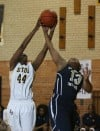 Seton's Deisree Jackson battle Tyler Brown-Henderson for a rebound
